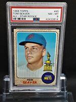 1968 Topps #45 Tom Seaver - HOF - Mets - PSA 8 - NM-MT - 42433914 - SCA