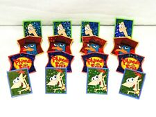 PHINEAS & FERB-  16-PLASTIC CUPCAKE RINGS , BIRTHDAY, CHILD  -    PARTY SUPPLIES
