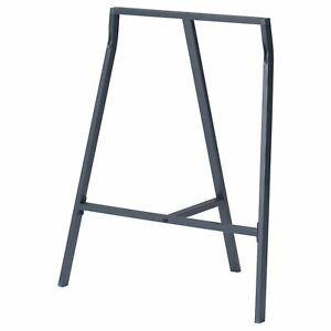 IKEA ALL PURPOSE LERBERG TRESTLE TABLE Metal Stand Leg,70x60 cm,Grey,Brand New
