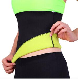 Body Training Neoprene Fat Burner Waist Slimming Sport Tummy Fit Trimmer Belt UK