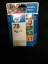 New Sealed Box Genuine OEM HP 78 C6578DN Tri-Color InkJet DeskJet 920 Oct 2009
