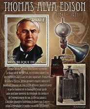 Mali Thomas Alva Edison First Electric Lamp Science Souvenir Sheet Mint NH