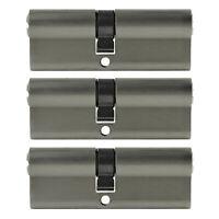 3x Profilzylinder 90mm 45/50 15x Schlüssel Tür Zylinder Schloss gleichschließend