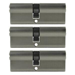 3x Profile Cylinder 95mm 45/50 15x Key Door Zylinder Lock Keyed Alike