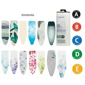 Brabantia Ironing Board Cover Size S A B C D E Heat Reflective Felt Pad 2mm Foam