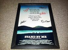 "STAND BY ME PP SIGNED & FRAMED 12""X8""A4 PHOTO POSTER COREY FELDMAN RIVER PHOENIX"