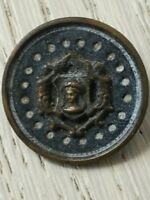 BOUTON ANCIEN Blason reine Anges