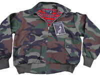 Heavy Harrington Jacket Tartan Lined Woodland Camouflage Punk Skinhead Mod