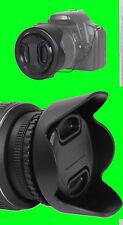 58 mm REVERSIBLE FLOWER HOOD+LENS CAP+HOLDER 58mm BOWER