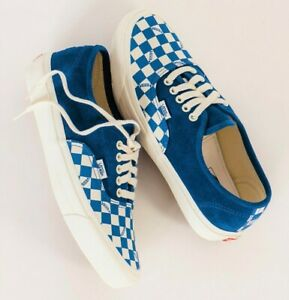 Vans Vault OG Authentic LX Checkered Skate Shoes Men's Size 9.5 True Blue