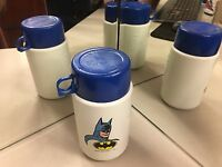 LUNCH BOX THERMOS BRAND VINTAGE BATMAN BLUE CAP ENTHUSIASTS THERMOS B2
