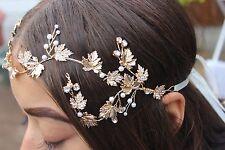 Rose gold crown tiara design bridal hair piece. Wedding hair piece UK SELLER.