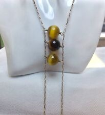 """Tateossian Gold Over 925 Silver, Pearl, Bead Necklace 22""""/56cm, 9"""" Drop"""