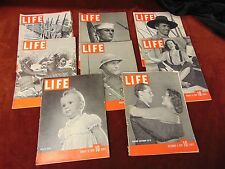8 Vintage 1939 1940 LIFE MAGAZINE PHOTOS WW II Soldiers  ACTORS War Navy SPORTS
