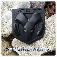 Dodge Ram Emblem 1500 2500 3500 Tailgate Ram Head  Medallion Oem Matte Black New