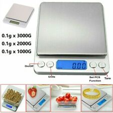Digital Electronic Kitchen Weighing Scales Pocket LCD Food Jewellery 0.1g-3000g