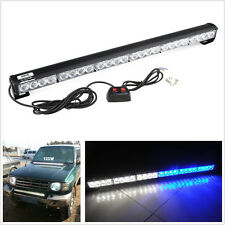 24 LED Car Strobe Light Bar blue/white Emergency Hazard Warning for Ford GMC 4X4