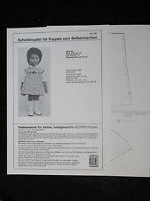 kurzes Kleid, Schnittmuster für Puppen