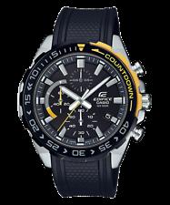 Casio Edifice EFR-566PB-1A Men's Chronograph Rubber Band Analog Watch