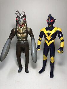 Bandai 2x Ultraman Vintage Figures Japanese Kaiju  import Godzilla Gamera
