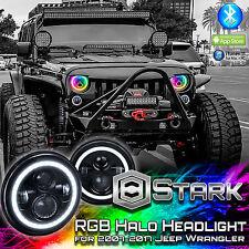 100W 8600LM LED Million Color Bluetooth RGB Halo Headlight - Wrangler JK TL LJ