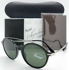 NEW PERSOL sunglasses PO3172S 95/31 51m Black Grey Green Calligrapher round 3172