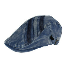 Denim Newsboy Jean Gatsby Cap Ivy Hat Golf Driving Summer Flat Cabbie BXG-BL