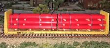 HO Scale 26' banded pipe load Red