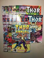 Marvel Bronze/Copper Age Thor Lot Of 17 Comics From 1982-89