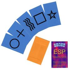 ESP Telepathy Cards Mind Reading Mentalist Magic Trick Props & Instructions New