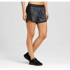 c9 women's Run Shorts Dark Gray/Black Diagonal Dots Print
