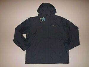 Columbia Mens Colligate Navy Blue Heather Rain Jacket Size M L XL