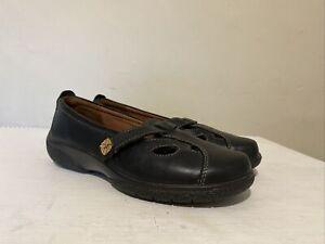 NEW Ladies Hotter Nirvana Black Leather Slip On Comfort Shoes UK 3 EXF EU 36