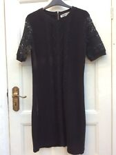 CLEMENTS RIBEIRO Black Cotton Knitted Dress Size L/12-14