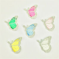 6pcs/Set Embroidery Butterfly Sew Iron On Patch Badge Embroidered Applique DIY