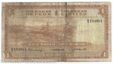SOUTH WEST AFRICA 1 POUND 1958 RARE WORLD PAPER MONEY BILL AFRICAN SWA BANK NOTE