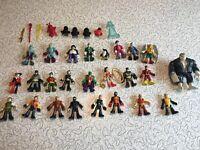 Lot of 25 Imaginext DC Marvel Batman Robin Joker Grundy Manhunter Super Hero Lot