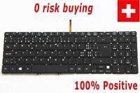For Acer Aspire V5-531 V5-571 Keyboard Swiss German CH Tastatur Backlit No Frame
