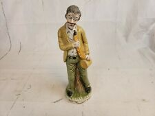 Flambro Porcelain Figurine Old Man Holding A Saxophone Pt2