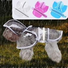 Clear Waterproof Dog Rain Coat with Hood Reflective Pet Raincoat Jacket S-4XL