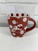 Disney Theme Parks Minnie Mouse Polka Dot Red/White Coffee Mug