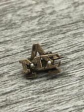 Alpha Mu Sigma Pin 14K Yellow Gold Vintage