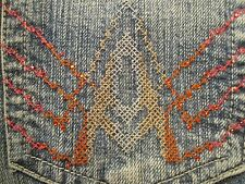 AUTHENTIC 7 FOR ALL MANKIND A POCKET BOOT CUT WOMEN JEANS SIZE 24 X 33 VIC-THOR1