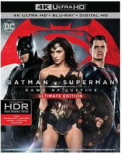 Batman v vs Superman Dawn of Justice DVD Digital Ultimate 4K Ultra HD Blu-ray