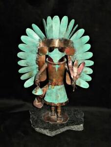 """Dale Anderson 1993 Copper Eagle Kachina Sculpture 15"""", LE 103/500"""