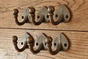 A set of six lovely arts and crafts style single coathook hook hanger MF1