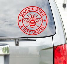 Manchester Bee A City United Car Sticker Vinyl Window Decal I Love Manchester