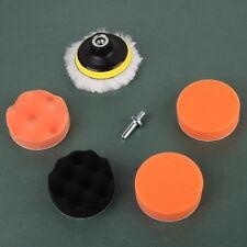 7 Pcs 3'' Buffing Pad Auto Car Polish Polishing Wheel Kit Buffer + Drill Adapter