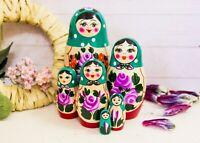 Matryoshka Toy, Babushka Doll, Russian Doll Khokhloma Hand Painting, Souvenir