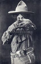 Antique Repro Photo Print Cowgirl Taking Aim With Her Trusty Colt Peacemaker